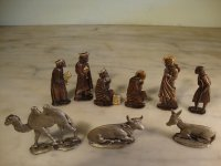 JASLICE od olova / MINIATURE lead PEWTER NATIVITY-ukrasi N.G.