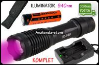 KOMPLET 940nm Lampa ILUMINATOR LED Baterija Digitalna Optika ★RAČUN★