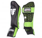 Fighter Shinguards Thai - black/green štitnici za potkoljenice