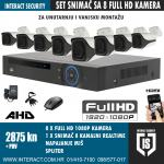 FULL HD KOMPLET ZA VIDEO NADZOR SA 8 FULL HD KAMERA 2875 KN + PDV
