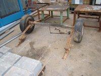 osovina za izradu prikolice ili trailera sa kočnicama