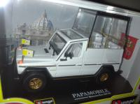 Diecast model Mercedes 230GE Papamobile 1/43 Burago