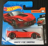 Hot Wheels '14 Corvette C7 Z06 Convertible