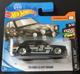 Hot Wheels '70 Ford Escort RS1600 ( crni )
