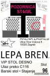 Lepa Brena Arena Zagreb 14.12.2019 VIP Bar table x 6