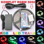 LED TRAKA RGBW 5050 300SMD 12mm VODOTPORNA IP65 5 metara KOMPLET!