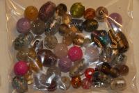 Murano staklo , perlice , repro materijal , nakit , polu dragi kamen