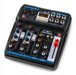 Tronios Vonyx VMM-P500 4-CHANNEL MUSIC MIXER WITH DSP/USB AND MP3/BT