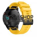 Silikonski remen za satove Garmin Fenix 5, 6, Forerunner žuti 22mm