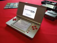 Nintendo DS lite gray & red custom