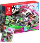 Nintendo Switch Neon Blue/Neon Red + Splatoon 2,NOVO!