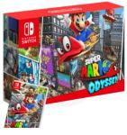 Nintendo Switch Neon Blue/Neon Red + Super Mario Odyssey,NOVO!