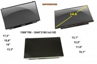 Laptop ekrani (paneli) display screen LCD i LED, 12mj. jamstvo!!
