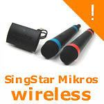 Sony SingStar PS2 PS3 wireless mikrofoni Set,novo zapakirano u trgovin