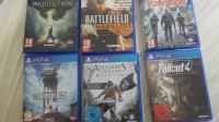 PS4 The Division, Fallout 4, Dragon Age, Battlefront, Black flag