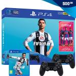 PlayStation 4 500GB Slim (PS4) + FIFA 19 + dodatni kontroler,NOVO!