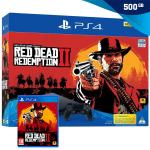PlayStation 4 500GB Slim (PS4) + Red Dead Redemption II (2),NOVO!