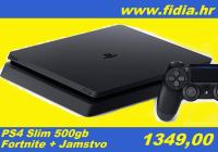 ⭐️⭐️ PS4 slim 500gb + FORTNITE - rabljeno !!! ⭐️⭐️