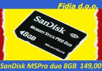 SANDISC MSpro Duo 8GB - PSP