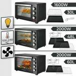 mini pećnica s 30/48 / 60L 1600 / 2000W roštiljem mini pećnica tost pe
