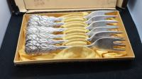 Vilice #antique boxed set 6 BMF 90 German SILVER