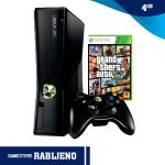 Xbox 360 4GB Slim + Grand Theft Auto V (GTA 5),RABLJENO!