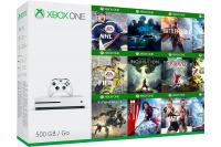 Xbox One Slim 500GB + 50 igara + Xbox Live Gold (XBox Slim - novo)