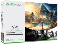 Xbox One Slim 500GB + Assassins Creed Origins + Xbox Live Gold (novo)