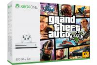 Xbox One Slim 500GB + GTA 5 + Xbox Live Gold (XBox Slim - novo)