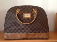 LOUIS VUITTON ALMA DAMIER CANVAS EBONY