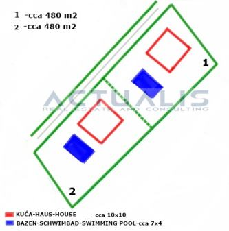 Građevinsko zemljište  (otok Krk) 967 m2 (2 gradilišta) 450 m od mora