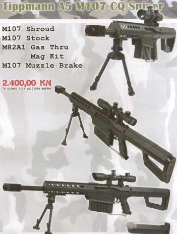 Tippmann A5 - M107 CQ Sniper Kit - PAINTBALL oprema