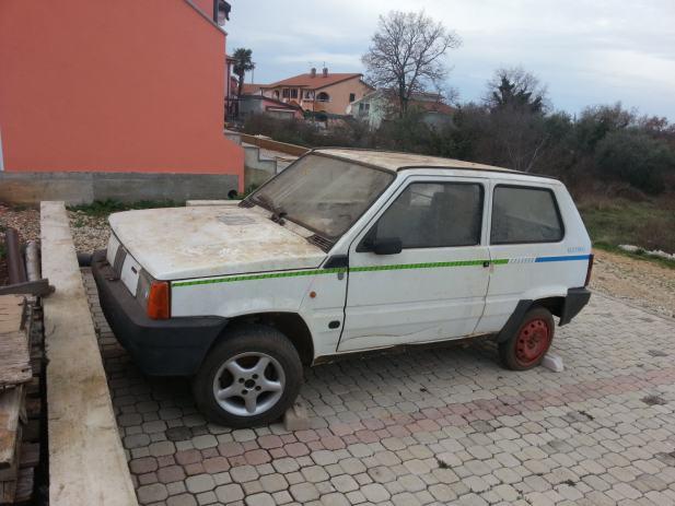 Fiat Panda Elettra Elektrini Automobil 1990 God
