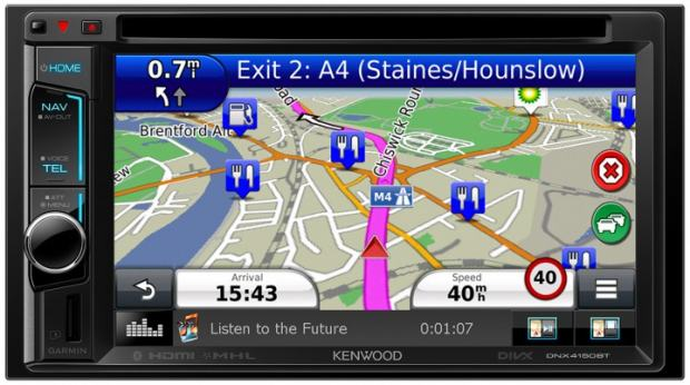 novo autoradio kenwood dnx 4150bt sa navigacijom. Black Bedroom Furniture Sets. Home Design Ideas