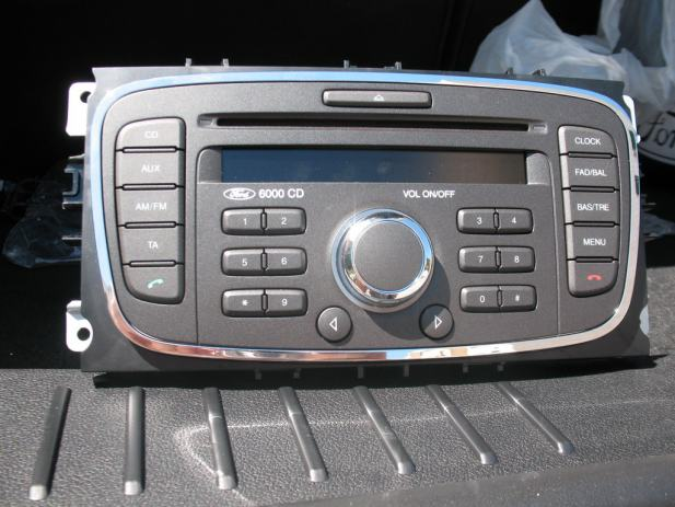 ford auto radio cd 6000cd za focus c max mondeo. Black Bedroom Furniture Sets. Home Design Ideas