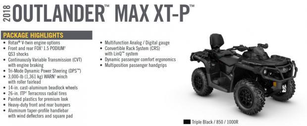 BRP CAN-AM Outlander MAX XT-P 850 INT, 2017 god