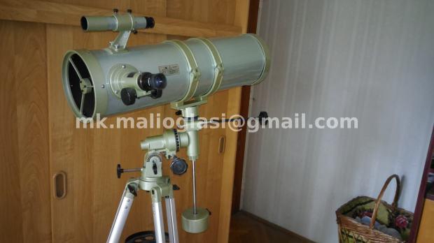 Newtonov reflektivni teleskop kratke cijevi na ekv. montaži 150 750