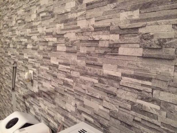3d tapete izgled kamena. Black Bedroom Furniture Sets. Home Design Ideas