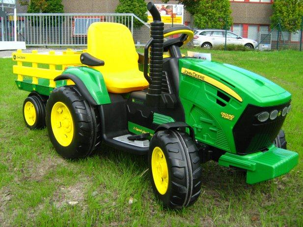 peg perego john deere ground force elektro traktor. Black Bedroom Furniture Sets. Home Design Ideas