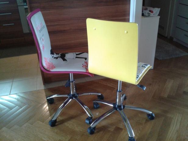 Dječje stolice za radni stol -prodajem