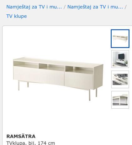 Tv Komoda Bijela Ikea
