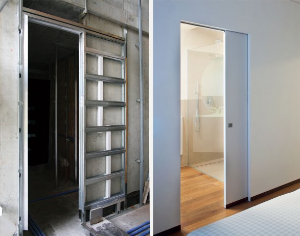 Eclisse syntesis kazeta za klizna vrata s nevidljivim tokom - Porta in cartongesso ...