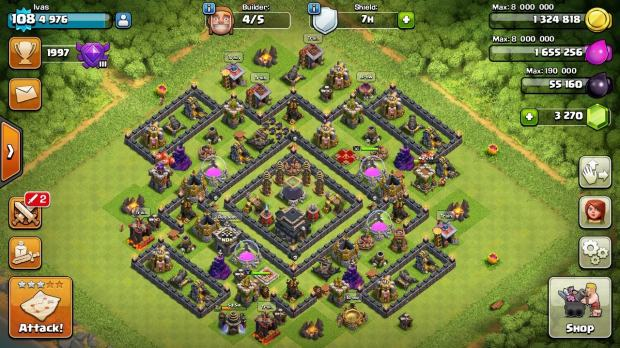 how to change a clash of clans account