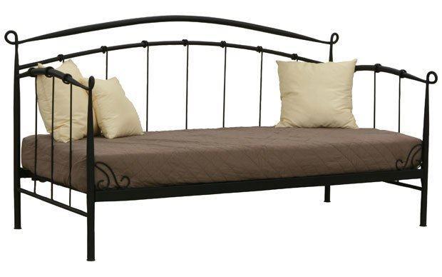 kovano željezo kreveti krevet s podni  metalni crni (kao kovano željezo) 650 kn sa slanjm kovano željezo kreveti
