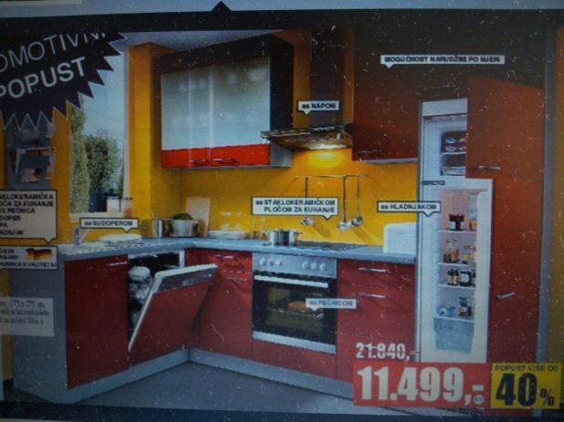 kuhinja xora ex275bcl 101 bijela. Black Bedroom Furniture Sets. Home Design Ideas