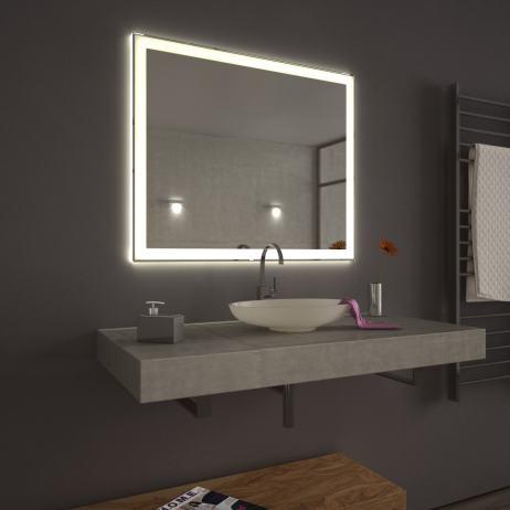 ogledalo dimenzije 120 x 80 cm sa led rasvjetom novo. Black Bedroom Furniture Sets. Home Design Ideas
