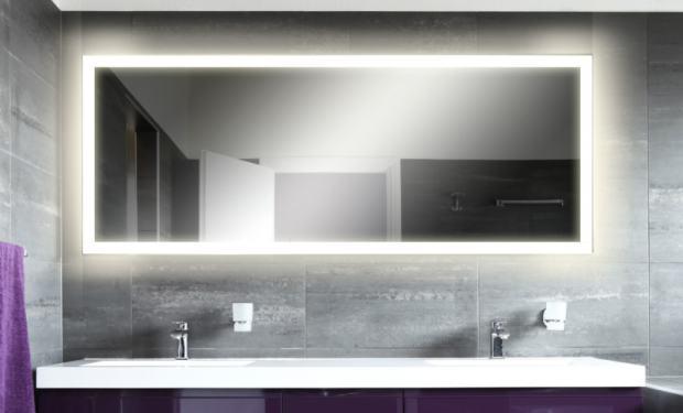 ogledalo za kupaonicu sa pozadinskom led rasvjetom 120 x 80 cm novo. Black Bedroom Furniture Sets. Home Design Ideas