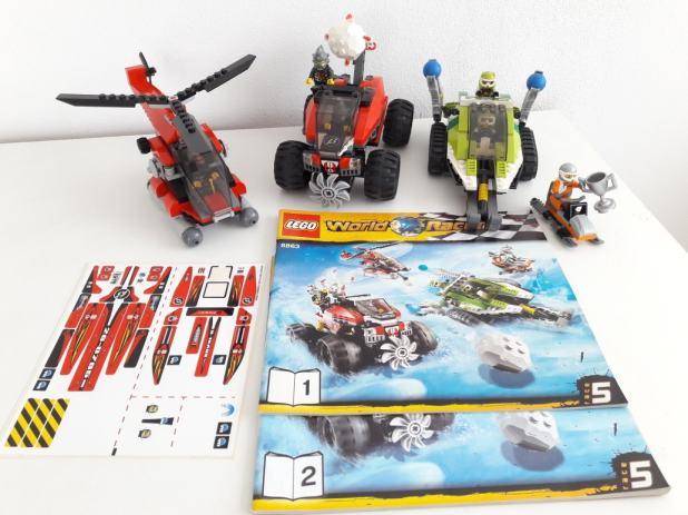 LEGO 8863 World Racers Blizzards Peak, Sastavljeno