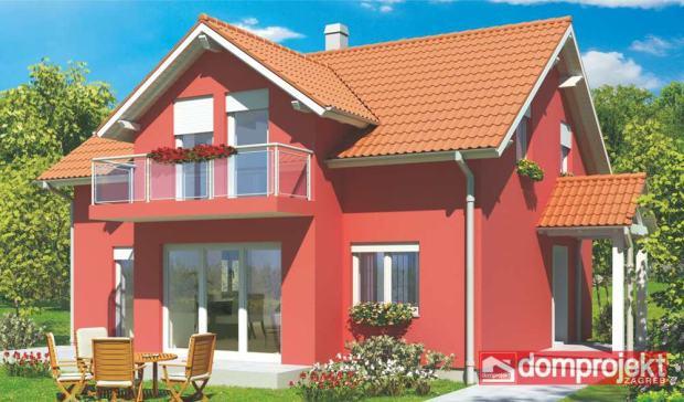Montažna kuća s potkrovljem, 146 m2, Doris