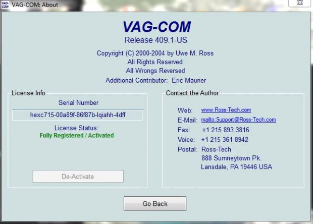 Vag Com Registered And Activated